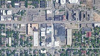 A satellite view of the Minneapolis Hennepin Avenue