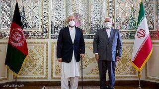 وزرای خارجه ایران و افغانستان در تهران