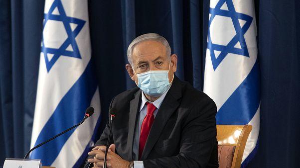 بنیامین نتانیاهو در جلسه کابینه اسرائیل