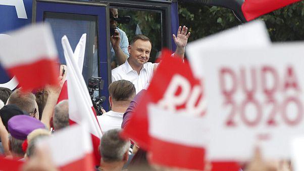 Andrzej Duda jelenlegi államfő kampányol