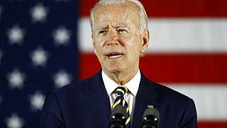 Joe Biden, egykori alelnök, a Demokrata Párt elnökjelöltje