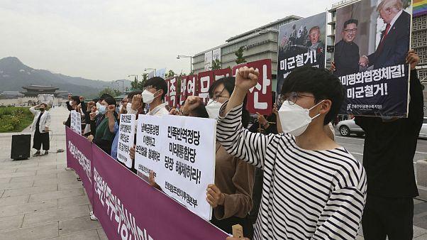 Korean protesters