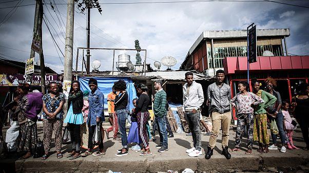 Le quartier très peuplé de Mebrat Hail à Addis Ababa en Ethiopie habrite de nombreux Érythréens depuis que les deux pays ont signé un traité de paix en 2018
