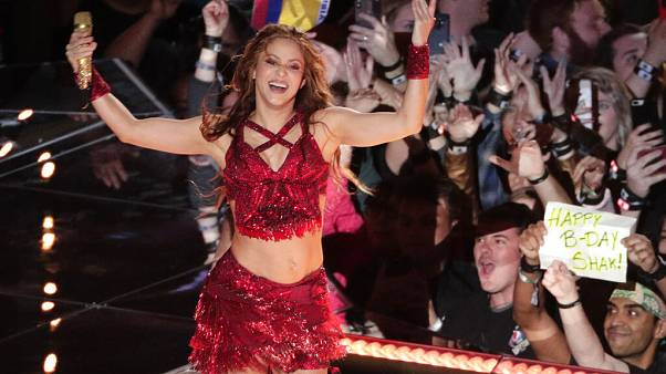 Singer Shakira performs