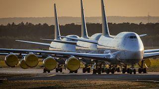 طائرات بوينغ 747 تابعة لأسطول شركة طيران ألمانية