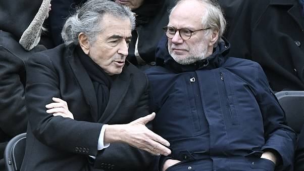 Bernard-Henri Levy bei der Beerdigung des Gründers des Magazins Nouvel Observateur, 28. Februar 2020