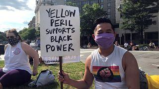 مظاهرات آسيوية مناهضة للعنصرية ضد السود