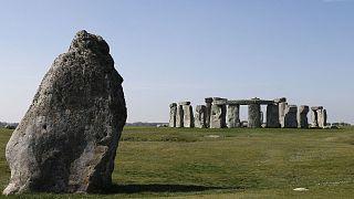 Le site mégalithique de Stonehenge, le 26 avril 2020.