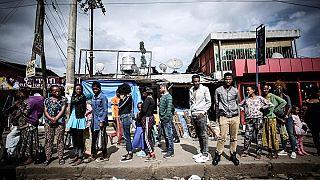 Густонаселенный пригород Мебрат Хаил в Аддис-Абебе, Эфиопия, стал новым домом для многих эритрейцев после 2018 года
