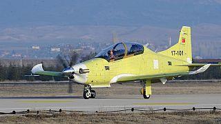 Test uçuşu yapan Hürkuş uçağı, Ankara'nın Beypazarı ilçesinde kaza geçirdi