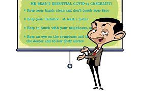 Mr. Bean em campanha da OMS