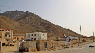 منظر لمبنى إداري يمني في جزيرة سقطرى بعد سيطرة الانفصاليين الجنوبيين عليها - 2020/06/22