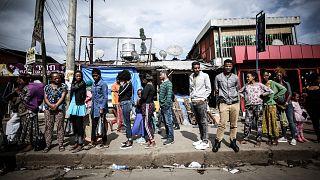 ضاحية مربط حيل المكتظة بالسكان في أديس أبابا