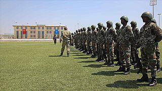 Somali'de askerlere eğitim/ Arşiv