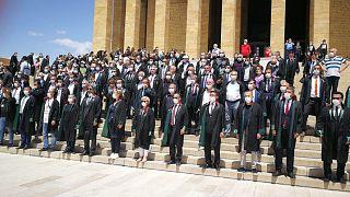 Baro başkanlarının Anıtkabir'e ulaştı