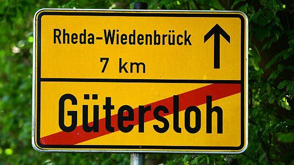 Panneau de la Ville de Gütersloh en Allemagne, le 23 juin 2020.