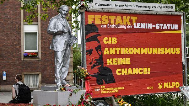 Die Lenin-Statue wurde laut MLPD 1957 in der Tschechoslowakei gegossen