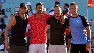 Dimitrov, Djokovic, Troicky e Coric