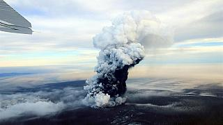 Imagen de archivo de la última erupción del volcán Grimsvotn en mayo de 2011