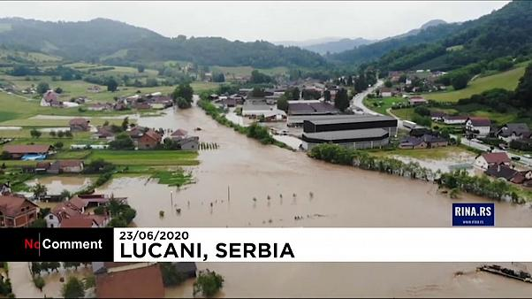 Heavy rain causes floods in Serbia and Bosnia & Herzegovina