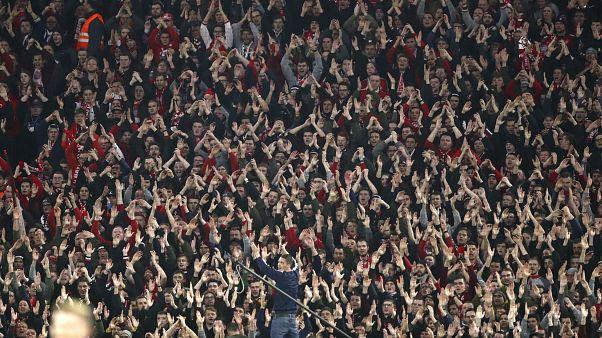 Fußball-Fans in München.