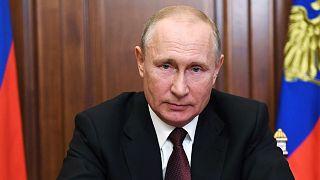 Le président russe, Vladimir Poutine, le 23 juin 2020, lors d'une adresse à la Nation.