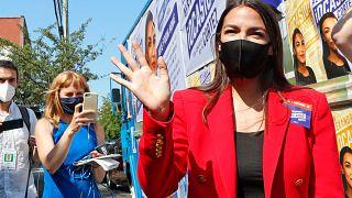 La congresista demócrata Alexandria Ocasio-Cortez en New York, el 23 de junio de 2020.