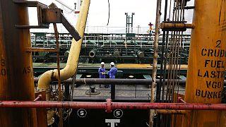 Άποψη από το ιρανικό τάνκερ Fortune που αγκυροβόλησε στην Βενεζουέλα