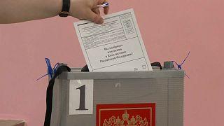 На избирательном участке в Москве