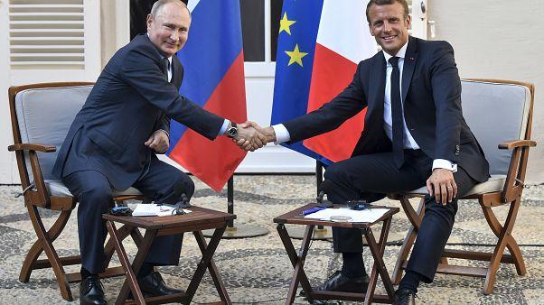 Встреча Макрона и Путина в Брегансоне. 19 августа 2019 года