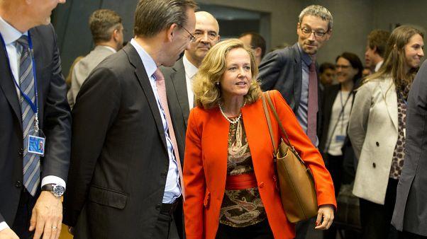 Nadia Calviño llega a una reunión del Eurogrupo. Archivo.