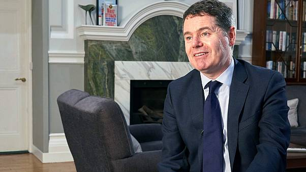 Ireland Finance minister Paschal Donohoe speaks with the Associated Press during an interview in Dublin, Thursday Jan. 30, 2020.