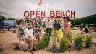 Vilnius' new city centre beach is unveiled