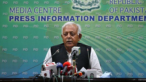 Pakistan's aviation minister Ghulam Sarwar Khan