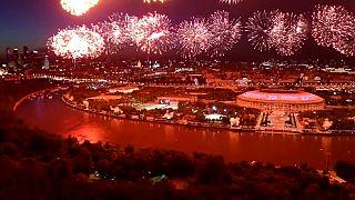 Tűzijáték borította fénybe Moszkva egét