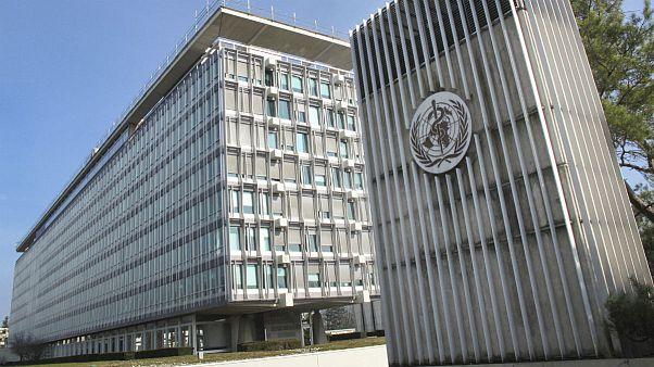 World Health Organization (WHO) headquarters building in Geneva, Switzerland