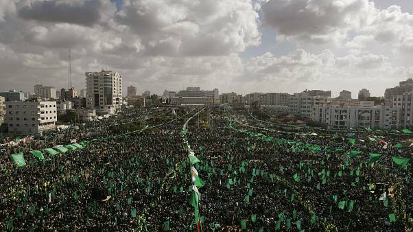 Gazze Şeridi'nde gösteri düzenleyen Hamas taraftarları (arşiv)
