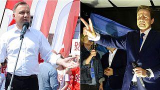 Poland President Andrzej Duda and opposition challenger Rafal Trzaskowski, who is Warsaw's mayor