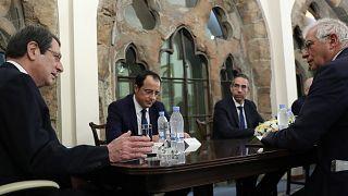 Αναστασιάδης και Μπορέλ στο Προεδρικό Μέγαρο