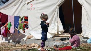 Hatay'ın Reyhanlı ilçesindeki Suriyeli mülteci kampı