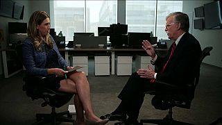 مستشار الأمن القومي الأمريكي الأسبق جون بولتون خلال مقابلة مع قناة سكاي نيوز البريطانية في واشنطن - 2020/06/25