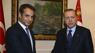 Yunanistan Başbakanı Kiryakos Miçotakis / / Cumhurbaşkanı Recep Tayyip Erdoğan (arşiv)
