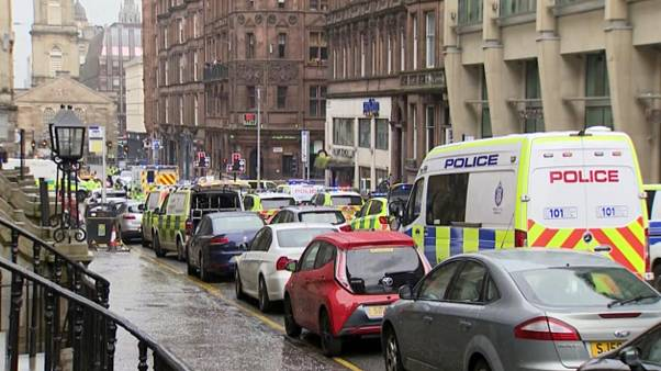 Police in Glasgow say emergency services are currently dealing with an incident in the center of Scotland's largest city and are urging people to avoid the area.