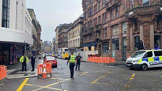 حادث هجوم بالسكين بمدينة غلاسكو في إسكتلندا