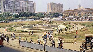 ساحة التحرير وسط العاصمة المصرية القاهرة