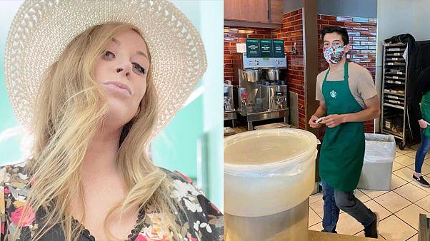 Maskesiz müşterinin siparişini almayan Starbucks çalışanı 60 bin dolar bahşiş topladı