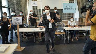 Gregory Doucet, Kandidat der Grünen (EELV) in Lyon, hat seine Stimme abgegeben