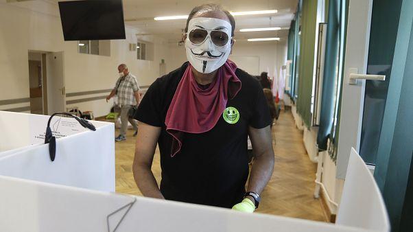 Избирательный участок в Варшаве, Польша