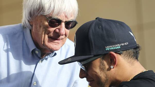 Bernie Ecclestone con Lewis Hamilton