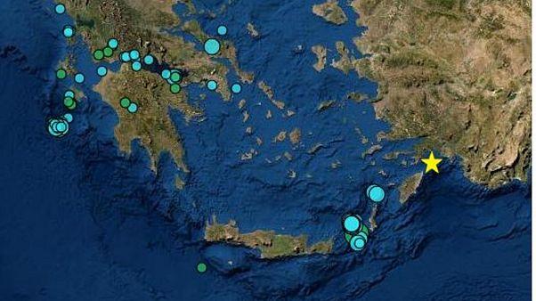 Νέος σεισμός 4,7 Ρίχτερ ανοιχτά της Ρόδου